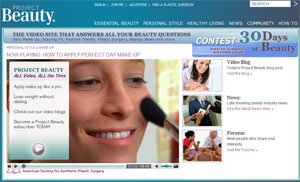 Project Beauty website home page