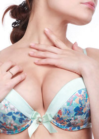 woman wearing a bra